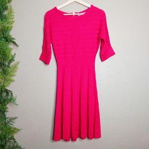 Eliza J Knit Sweater Dress Fit & Flare Pink S